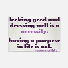 Dressing Well is a Necessity Rectangle Magnet