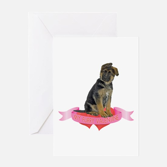 German Shepherd Valentine Greeting Card