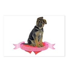 German Shepherd Valentine Postcards (Package of 8)