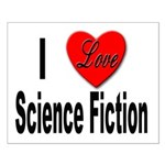 I Love Science Fiction Small Poster