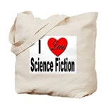 I Love Science Fiction Tote Bag