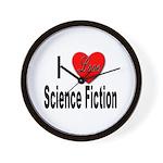 I Love Science Fiction Wall Clock