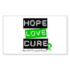 SCTSurvivor HopeLoveCure Rectangle Decal