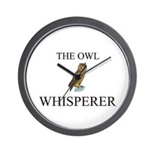 The Owl Whisperer Wall Clock