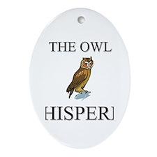 The Owl Whisperer Oval Ornament
