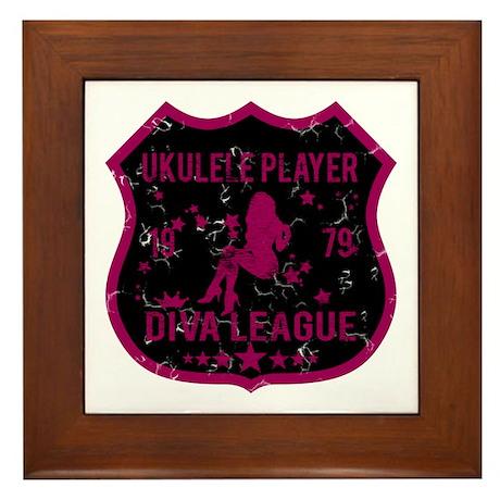 Ukulele Player Diva League Framed Tile