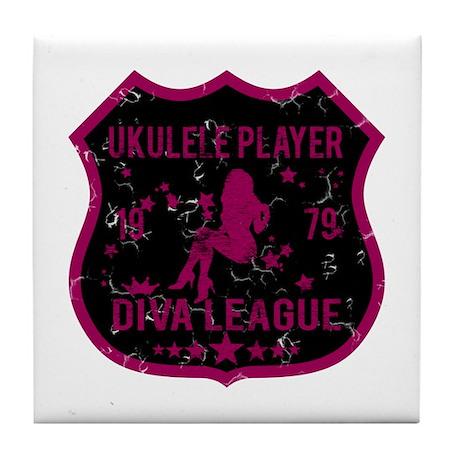 Ukulele Player Diva League Tile Coaster