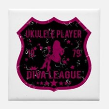 Ukulele Player Diva League Tile Coaster