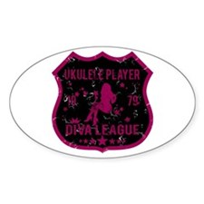 Ukulele Player Diva League Oval Decal