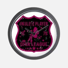 Ukulele Player Diva League Wall Clock