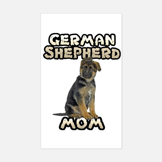 German Shepherd Mom Sticker (Rectangle)