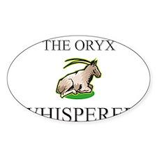 The Oryx Whisperer Oval Sticker