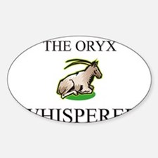 The Oryx Whisperer Oval Decal