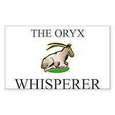 The Oryx Whisperer Rectangle Sticker