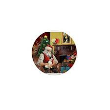 Santa's Rat Terrier Mini Button