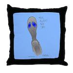 Aliens Are Sad Throw Pillow