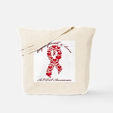 Hope, Faith and Love AIDS Tote Bag