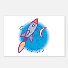 Rocket Ship Postcards (Package of 8)