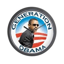 Funny Obama president january 20 election 2008 Wall Clock