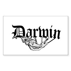 Darwin Rectangle Sticker 10 pk)