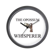 The Opossum Whisperer Wall Clock
