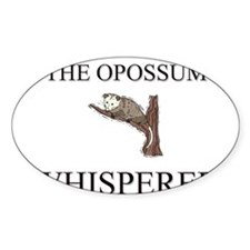 The Opossum Whisperer Oval Decal