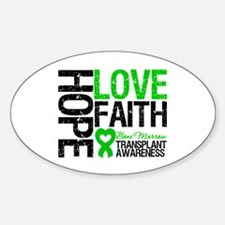 BMT Hope Love Faith Oval Decal