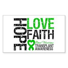 BMT Hope Love Faith Rectangle Decal
