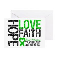 BMT Hope Love Faith Greeting Card