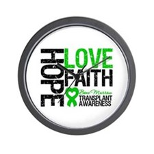 BMT Hope Love Faith Wall Clock