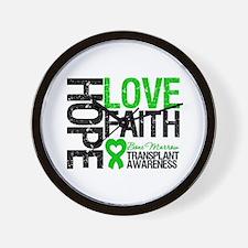 BMT Hope Love Faith Wall Clock