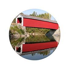 """Rexleigh Covered Bridge NY 3.5"""" Button"""