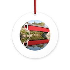 Rexleigh Covered Bridge NY Ornament (Round)