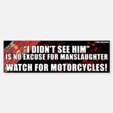 Black Manslaughter Bumper Bumper Bumper Sticker