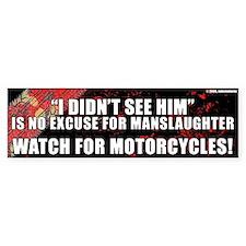 Black Manslaughter Bumper Bumper Sticker