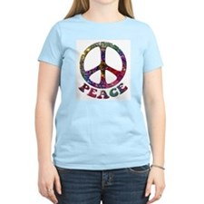 Jewelled Peace Symbol T-Shirt