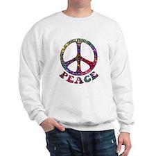 Jewelled Peace Symbol Sweatshirt