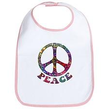 Jewelled Peace Symbol Bib