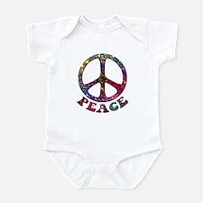 Jewelled Peace Symbol Infant Bodysuit
