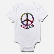 Jewelled Peace Symbol Onesie