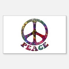 Jewelled Peace Symbol Decal