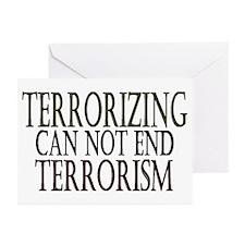 Terrorizing isn't Working Greeting Cards (Package