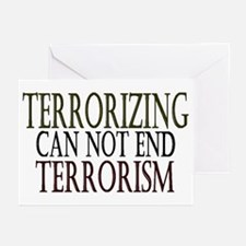 Terrorizing isn't Working Greeting Cards (Package