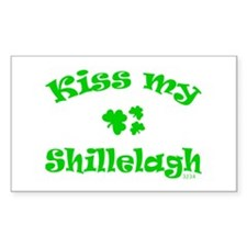 kiss my Shillelagh Rectangle Decal
