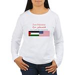 USA Support Palestine Women's Long Sleeve T-Shirt