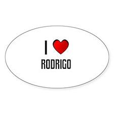 I LOVE RODRIGO Oval Decal