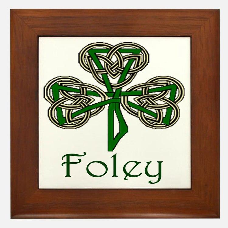 Foley Shamrock Framed Tile