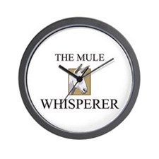 The Mule Whisperer Wall Clock