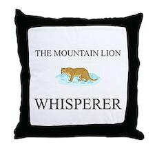 The Mountain Lion Whisperer Throw Pillow