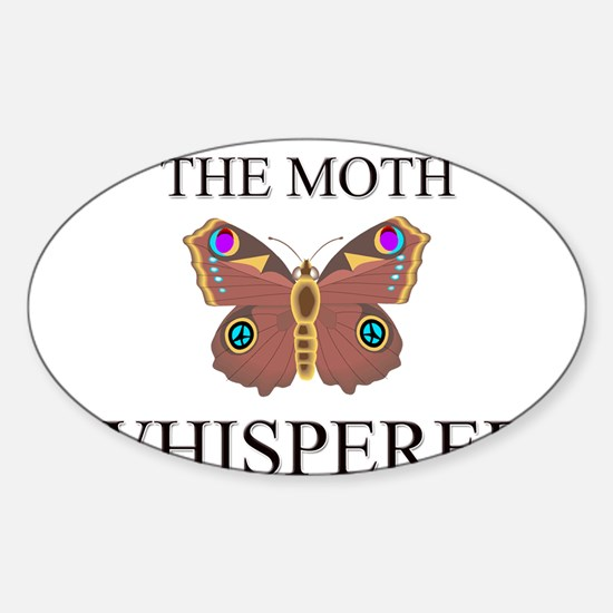 The Moth Whisperer Oval Decal